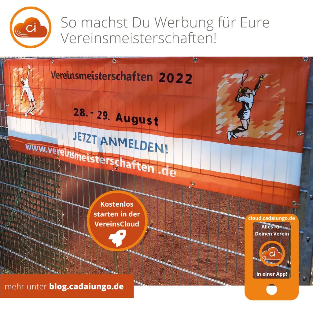 So machst Du Werbung für Eure Vereinemeisterschaften   cadaiungo Blog   blog.cadaiungo.de